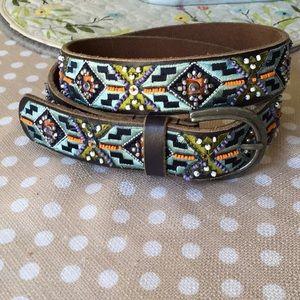 Lucky Brand leather beaded belt